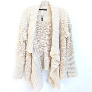 KENSIE Chunky Fuzzy Knit Waterfall Open Cardigan